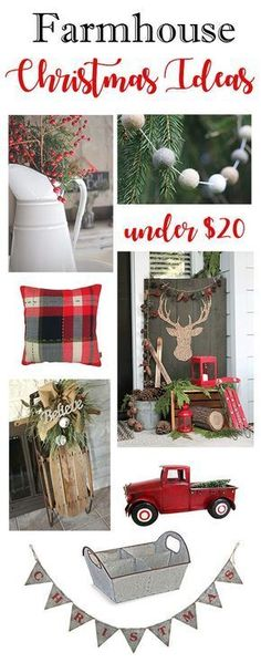 Farmhouse Christmas decor ideas under $20! Get the look of Fixer Upper with a budget!