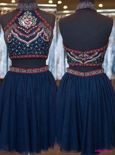 2 Piece Homecoming Dress,Short Homecoming Dresses,Homecoming Dress,Beautiful Prom Gown,2 piece Cocktail Dress PD20181980