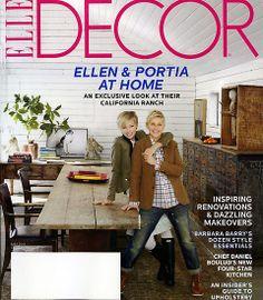 Ellen & Portia Elle Decor Cover