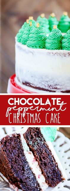 Chocolate Peppermint Christmas Tree Cake https://www.somethingswanky.com/chocolate-peppermint-christmas-tree-cake/?utm_campaign=coschedule&utm_source=pinterest&utm_medium=Something%20Swanky&utm_content=Chocolate%20Peppermint%20Christmas%20Tree%20Cake