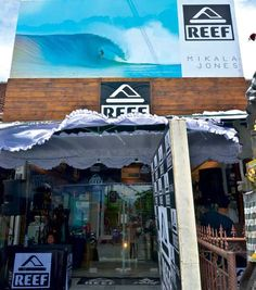 On Jl. Seminyak across from Jl. Kunti 1, Reef makes the most chilling beach footwear, air sole sandals, bottle opener aches, what next.