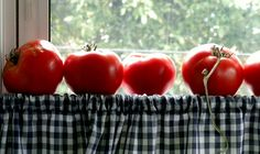 tomatoes in the window . . .