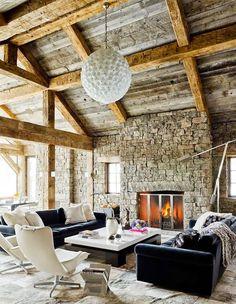 7 Designer Ski Chalets We Dream Of Staying In. Living Room  ModernLIVING ...