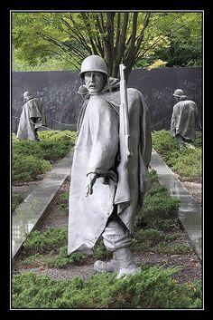 Vigilant: Korean War Veterans Memorial - Washington, District of Columbia Cemetery Monuments, Cemetery Statues, Cemetery Headstones, Cemetery Art, Korean War Veterans Memorial, Military Veterans, Washington Dc Travel, American Soldiers, God Bless America