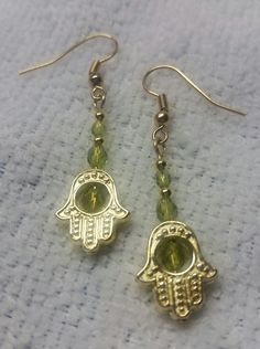 Hamsa Hand Dangles by BSODesigns on Etsy