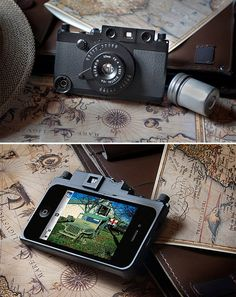 I HATE the iPhone as a camera, but the Gizmon ICA Military iPhone Case it pretty cool!