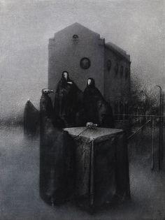 Kokous / A Meeting  Akryyli kankaalle / Acrylic on canvas, 2012  120 x 90 cm  Valokuva / photo: Timo Sälekivi