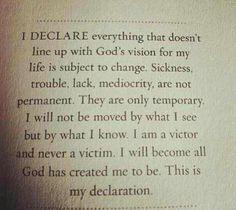 I Declare This....