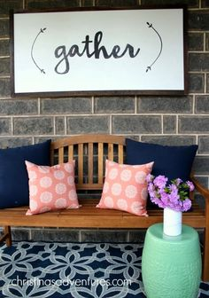 Oversized DIY Gather Sign