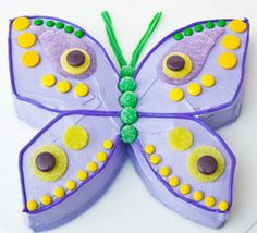 Butterfly cake -  this one's cute, I think I could do this.