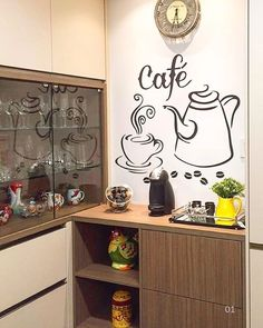 See related links to what you are looking for. Coffee Nook, Coffee Bar Home, Home Coffee Stations, Coffee Corner, Beautiful Kitchen Designs, Beautiful Kitchens, Coin Café, Coffee Station Kitchen, Cafe Bar