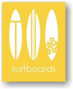 Yellow Surfboard Art Unframed Paper Print. Surfboard Wall Art Modern Nursery & Children's Art Print in Banana Yellow. Great for your 'little' surfer girl or surfer dude. Perfect for a surf nursery, beach nursery, child's bedroom and playroom. Frame and Mat Not Included. Unframed Print / Not Canvas 5x7, 11x14 & 12x16 sizes have a small border for easy framing with a mat 8X10 artwork is printed on a 8.5x11 inch sheet for easy framing with a mat Printed on premium heavyweight matte paper…