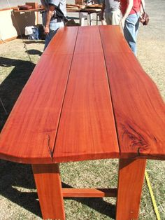 Featured In This Photo Is A Blue Gum Timber Outdoor Table 3 Metres Long By 1 Metre Wide Actually 2 Tables Can Easily Be Made Into