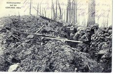 WWI German Postcard, Trenches at Combres.