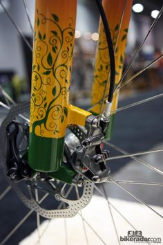 Check out the details on this custom painted Independent Fabrications hardtail.