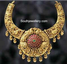 peacock_nakshi_work_traditional_necklace