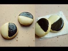 BLACK & WHITE COOKIES - Polymer Clay Tutorial - YouTube