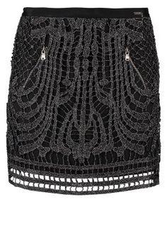 MARTINES - Spódnica mini - czarny