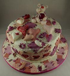 Abe's Heart Birthday cake
