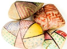 Designer stones Nature Crafts, Painting & Drawing, Easter Eggs, Stones, Drawings, Design, Rocks, Stone, Drawing