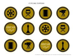 Free Oscar Night Party Printables from Printabelle | Catch My Party