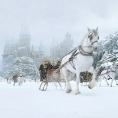 Hogwarts in the snow. #HarryPotter