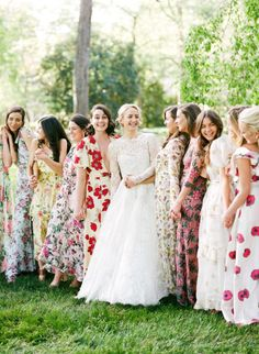 10 Unconventional Gifts Your Bridesmaids are Sure to Love Spring wedding styling and inspiration. bridesmaids spring 10 Unconventional Gifts Your Bridesmaids are Sure to Love Patterned Bridesmaid Dresses, Spring Bridesmaid Dresses, Mismatched Bridesmaid Dresses, Wedding Bridesmaids, Wedding Dresses, Floral Bridesmaids, Boho, Floral Wedding, Wedding Colors