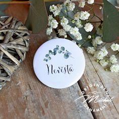 Svatební placka / buttonek - 57 Decorative Plates, Design