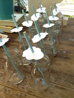 cloud straws - cloud party ideas and inspiration