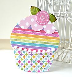 Love, Love, Love the patterns on this  paper! Bright spring colors are my favorite!