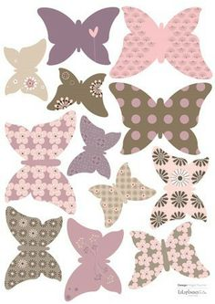 Stickers Enfants 12 papillons Lili - Lilipinso