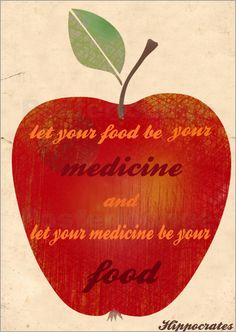 """""""Let food be your medicine and let your medicine be your food."""" Sage advice from Hippocrates, the father of Western Medicine Holistic Nutrition, Proper Nutrition, Health And Wellness, Gut Health, Health Fitness, Healthy Quotes, Nutrition Quotes, Nutrition Tips, Healthy Habits"""