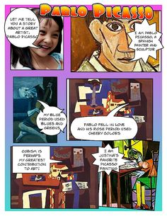 Picasso Project using Comic Life--love this for a poster project