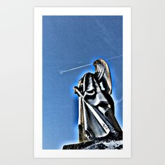 Angel and Contrail Art Print by Angelandspot - $14.56