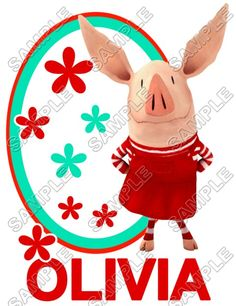 Olivia the Pig T Shirt Iron on Transfer Decal