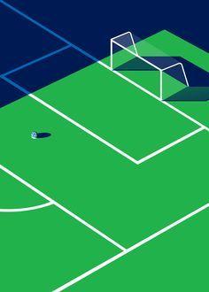 Malika Favre Sport et Style Fields Football un-kitchy classic art p Flat Design, Web Design, Design Art, Soccer Art, Soccer Poster, Soccer Goalie, Soccer Logo, Kids Soccer, Art And Illustration