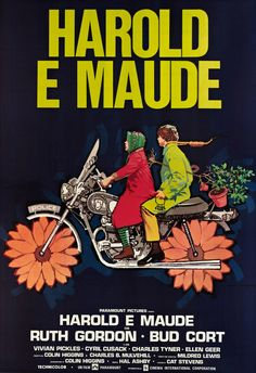 French Film Poster: Harold and Maude (1971) starring Ruth Gordon & Bud Cort
