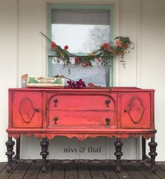 Red! Carnival Red by @debisdesigndiary DIY paint to be exact! #red #orange #paintedfurniture #nissandthat #paolaks #ilovemyjob