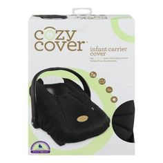 Cover Carrier Infant Car Seat Black Baby Cozy New Canopy Carseat One Summer All Carry W Baby Safety, Child Safety, Graco Infant Car Seat, Baby Carrier Cover, Cozy Cover, Booster Car Seat, Outdoor Baby, Shower Cap, Black Cover