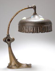 Art Nouveau Table Lamp, c. 1905, Berlin
