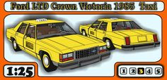 Ford LTD Crown Victoria 1985 Taxi Paper Car Free Vehicle Paper Model Download