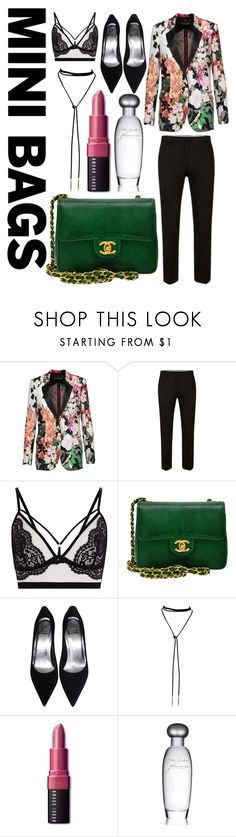 """""""Mini Bags"""" by sunnyblite ❤ liked on Polyvore featuring Roberto Cavalli, Chanel, Bobbi Brown Cosmetics and Estée Lauder"""