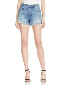 200.00$  Buy now - http://vivau.justgood.pw/vig/item.php?t=gf7iem643324 - T by Alexander Wang Bite High Rise Frayed Shorts in Light Indigo Aged