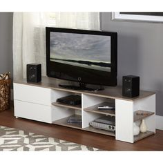 Simple Living Urban Entertainment Stand (Urban Entertainment Stand), White