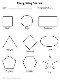 Snapshot image of Primary Colors and Basic Shapes worksheet | School ...