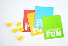 Summer Fun Foldover Tags