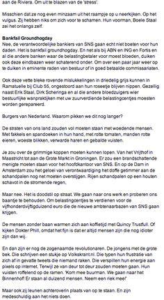 My Column in Volkskrant Opinie Nr 28 part 2