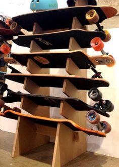 Skateboard Longboard Snowboard Floor Display Rack