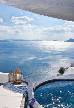 Santorini island, Greece - Our own private pool! Places Around The World, The Places Youll Go, Places To See, Around The Worlds, Vacation Destinations, Dream Vacations, Vacation Spots, Greece Destinations, Greece Hotels