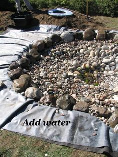 Here are the twenty steps to build a pond - explained with pictures